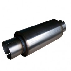 """3.5"""" Round Stainless Steel Clamp-On Silencer"""