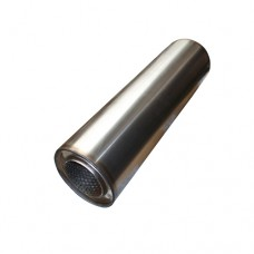 """3.5"""" Round Stainless Steel Silencer"""