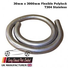 30mm ID x 3000mm Long Stainless Steel T304 Polylock