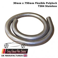 30mm ID x 750mm Long Stainless Steel T304 Polylock