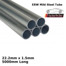 22.2mm x 1.5mm Mild Steel (ERW) Tube - 5000mm Long