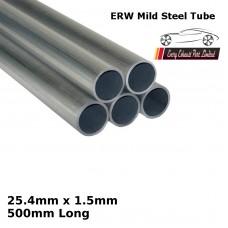 25.4mm x 1.5mm Mild Steel (ERW) Tube - 500mm Long