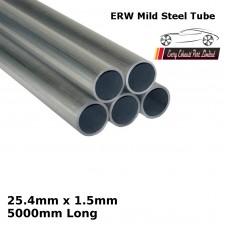 25.4mm x 1.5mm Mild Steel (ERW) Tube - 5000mm Long