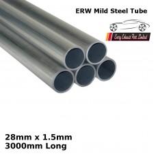 28mm x 1.5mm Mild Steel (ERW) Tube - 3000mm Long