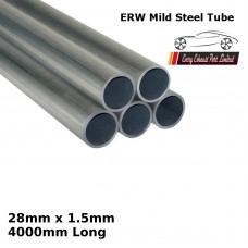 28mm x 1.5mm Mild Steel (ERW) Tube - 4000mm Long