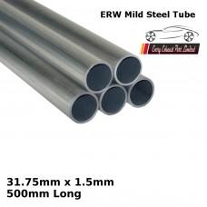 31.75mm x 1.5mm Mild Steel (ERW) Tube - 500mm Long