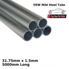31.75mm x 1.5mm Mild Steel (ERW) Tube - 5000mm Long