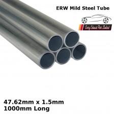 47.62mm x 1.5mm Mild Steel (ERW) Tube - 1000mm Long