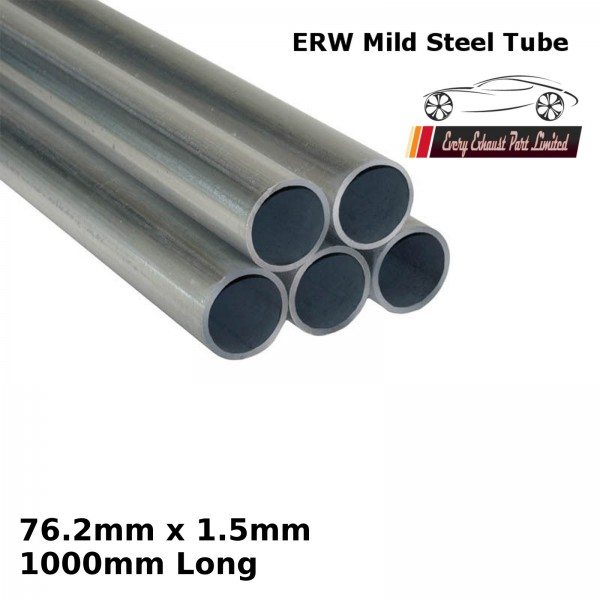 76.2mm x 1.5mm Mild Steel (ERW) Tube - 1000mm Long