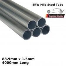 88.9mm x 1.5mm Mild Steel (ERW) Tube - 4000mm Long