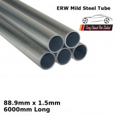 88.9mm x 1.5mm Mild Steel (ERW) Tube - 6000mm Long